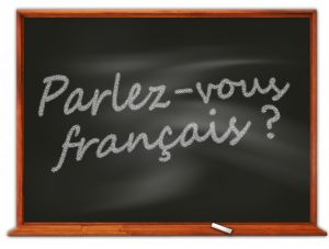 A Board with French words